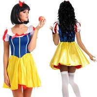 adult princess fancy dress - Adult Snow White Costume Cosplay Fantasia Halloween Costumes For Women Princess Dress Fancy Party Dress Halloween Clothes