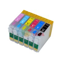 Wholesale 8pcs Refillable Ink cartridges T1590 T1599 For Epson Stylus Photo R2000 printer with Permanent Chips Chips with Reset botton