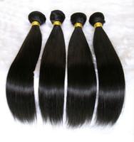 al por mayor extensiones de cabello de color 14-Extensiones de cabello humano brasileño Malasia Peruvian Mongolian Cambodian Unprocessed Straight Hair Bundles Dyeable Mejor calidad de pelo de armadura 8A
