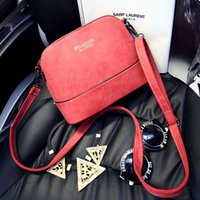 american girl body - New Vintage Simple Solid Scrub Shell Gilt Letters Women PU Leather Shoulder Bag Mini Crossbody Massenger Lady Bags for Girls