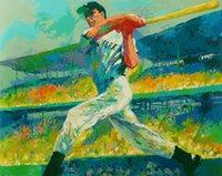 baseball hitter - US high tech HD Print Oil Painting Wall Decor Art on Canvas Unframed Baseball hitter x10inch