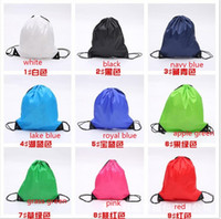 Wholesale mixed color sent drawstring tote bags Drawstring Backpack folding creative promotion gift shopping bags