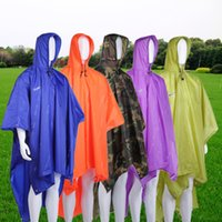 Wholesale 3 in Multifunctional Raincoat Outdoor Travel Rain Poncho Backpack Rain Cover Waterproof Climbing Camping Tent Mat Awning