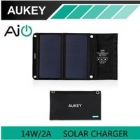 Wholesale AUKEY W Solar Charger with Dual USB Port for Apple iPhone Android Foldable Portable AiPower Adaptive Charging Technology