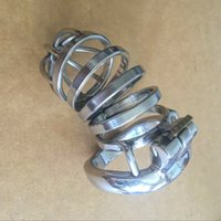 Cheap Newest Arrival Stainless Steel Super Small Male Chastity Belt Adult Cock Cage With arc-shaped Cock Ring Sex Toys Bondage Chastity device