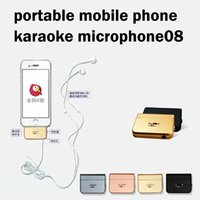 Wholesale Portable mobile phone karaoke microphone adapter for iphone IOS and andriod singing song with phone