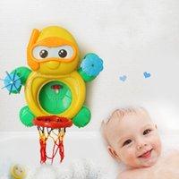 bath basketball - Baby Shower Bath Toys Environmental Full Set Kid s Basketball Bathroom Animal Toy Little Turtle Four Cups Hot Sale