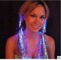 Wholesale LED Flash Braid Women Colorful Luminous Hair Clips Barrette Fiber Hairpin Light Up Party Halloween Bar Night Xmas Toys Decor CCA5117