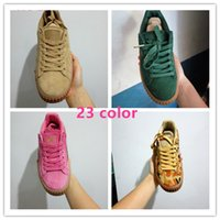 Wholesale 2016 Hot Sale Creepers men shoes women shoes sUede Casual Shoes summer rihanna x cheap origina Fashion shoes black white green