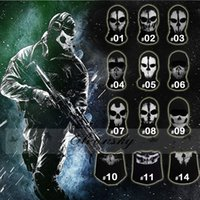 army costume accessories - DHL Fedex Free Ghost Masks Skull Balaclava Paintball Costume Outdoor CS Halloween Airsoft Hunting Cycling Army Tactical Full Face Mask Z245