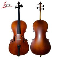 Wholesale TONGLING Hand Made Antique Matt Cello High Quality Cello Natural Flamed Old Spruce Professional Musical Instruments