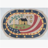 Wholesale Ground Mat for Entry Door Country Style Ellipse National Flag Rug Floor Mats Carpet NEW