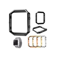 Wholesale 4 Color Polished Stainless Steel Metal Frame Holder Shell Protective Bumper For Fitbit Blaze Smart Watch Accessories