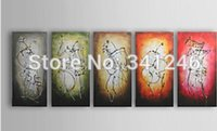attack wall - Hand painted modern wall art picture living room abstract home decor Party attacks oil painting on canvas
