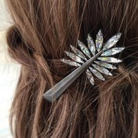 Wholesale AAA Acrylic Stone Bejeweled Branch Design Lady Hair Clip High Quality Korea Clip OEM ODM