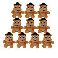 Wholesale 6 Styles Popular Five Nights at Freddy Bear Fox Duck Rabbit Clown Mini Plush Toys with Keychain Fashion Plush Pendant Dolls