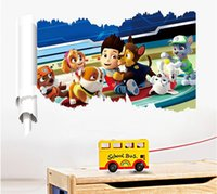 background dogs - 16Pieces Cartoon dog patrol wall stickers children bedroom sitting room waterproof background decal home decoration