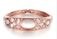 Wholesale European and American fashion jewelry fashion Opal Bracelet female rose gold jewelry bracelet