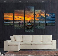 Wholesale 5Pcs Large Seaview Canvas Painting for Living Room Wall Art Picture no frame