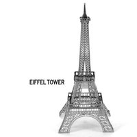 Wholesale In business Eiffel tower model D three dimensional puzzle metal simulation model puzzle toy Nano Puzzle Metallic assembly toys INBTG3P001