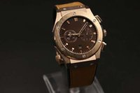 auto zone specials - Special Brand Hub Auto Watch For Men Big Bang Gold Skeleton Coffee Dial Gold Case Leather Band Hkpost