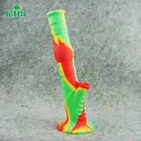 wholesale water pipes - New arrival silicone glass water pipe glass pipe glass bong smoking pipe colors for choice