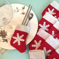 Wholesale 12 Pieces Set Mini Christmas Stockings Christmas Decoration Supplies Christmas Decorations Festival Party Ornament