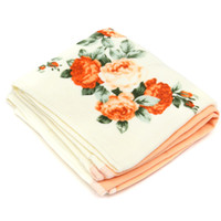 beautiful bath towels - 1pc Modern Flower Pattern Cotton Face Hair Hand Towel Bath Sports Shower Towel Washcloth comfortable and beautiful