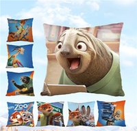 Wholesale Hold Pillow Zootopia Judy Nick Throw Hold Pillow Bolster Sofa Cushion Pillowcase Sloths Doll Cushion Pillow Cartoon Pillowcase Cushion Cover