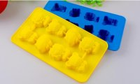 animal cupcake designs - 8 cavities chrismas Animal design Non stick silicone cupcake moulding Biscuit Chocolate Ice Cube Tray DIY Mold