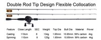 baitcasting reel tips - Two Tips Fuji Guide Reel seat best spinning casting carbon firber fishing rod baitcasting lure rod fishing products china