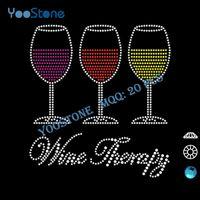 best iron food - Best Wine Therapy Rhinestone Iron On Transfer Custom For Garment Accessory
