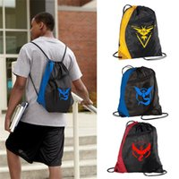Wholesale Poke go women men sports Drawstring bag team Instinct Valor mystic backpack school shoulder bag rucksack pack waterproof travel ags Storage