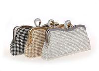 Wholesale hot sale Rhinestones Women Clutch Bags Diamonds Finger Ring Evening Bags Crystal Wedding Bridal Handbags Purse Bags Black Gold Silver