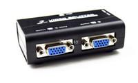 Wholesale Retail Port MHz High resolution X1440 PC VGA Video Signal Monitor Splitter Booster extender Amplifier KVM Switch Black