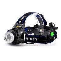 Wholesale 20PCS DHL Zoomable CREE XM L T6 Headlamp Led Headlight Flashlight head Lumens Waterproof