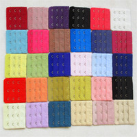 Wholesale Women Brassiere Rows Hooks Bra Extenders cm x cm Back Buckle Clasp Strap Sewing Notion Tools Intimates Accessories Adjustable Belt