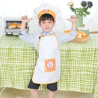 barbecue paint - 10 Custom Design Europe Quality Practical Children Apron Set for Cooking Painting Playing Picnic Barbecue and etc