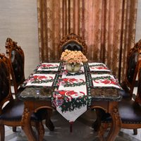 Wholesale The new series of polyester and cotton jacquard Christmas theme table table towel table towel the elderly gifts