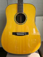 Wholesale OEM Acoustic Guitar Natural AAA Solid spruce Rosewood Fingerboard Guitar
