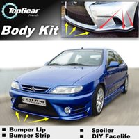 Wholesale Bumper Lip Lips For Citroen Xsara Picasso Front Skirt Deflector Spoiler For Car Tuning The Stig Recommend Body Kit Strip