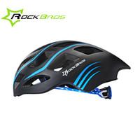 Wholesale ROCKBROS Professional Triathlon Road Bike Cycling Helmet Men Bicycle Integrally molded Ultralight Sport Helmet Casco Ciclismo