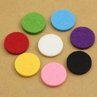 Wholesale 2016 Hot Sale mm mm Felt Pads Spacers for mm mm L Stainless Steel Aromatherapy Perfume Locket Essential Oil Diffuser Locket
