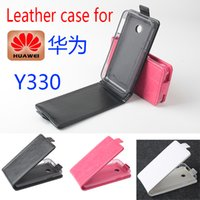 Wholesale High Quality New Original Huawei Y330 Leather Case Flip Cover for Huawei Y Case Phone Cover In Stock