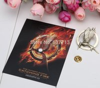 Wholesale 10pcs Movie The Hunger Games Logo Metal Brooch Badges