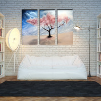 art storm - 3 Picture Combination Wall Art Impressionist Paintings Trees Under the Storm Picture Print on Canvas for Modern Home Decoration