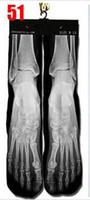Cheap Wholesale-Fashion popular 3d printer odd wink bottom thick towel socks wholesale men's basketball socks skateboard