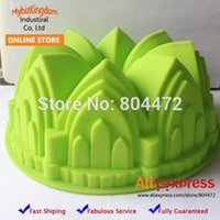 Wholesale 20 x Silicone Large Cake Pan Baking Molds Crown