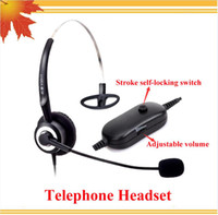 Wholesale Call Center Telephone Headphone call center telephone headset with RJ09 Plug with Volume Control and mute function