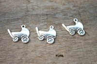 antique baby carriages - 20pcs Baby Carriage Charms Antique tibetan silver Baby Carriage Charms Pendants x0mm